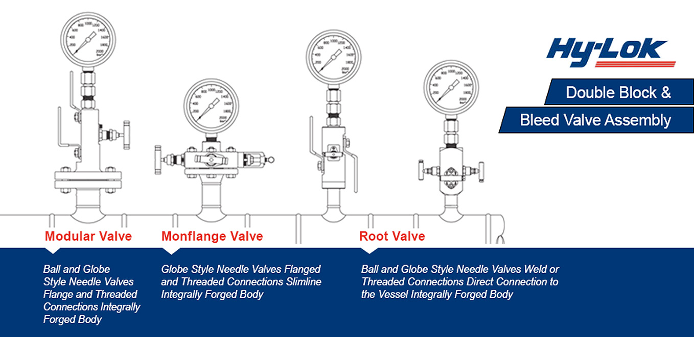 Hy-Lok Double Block & Bleed Valve Assembly